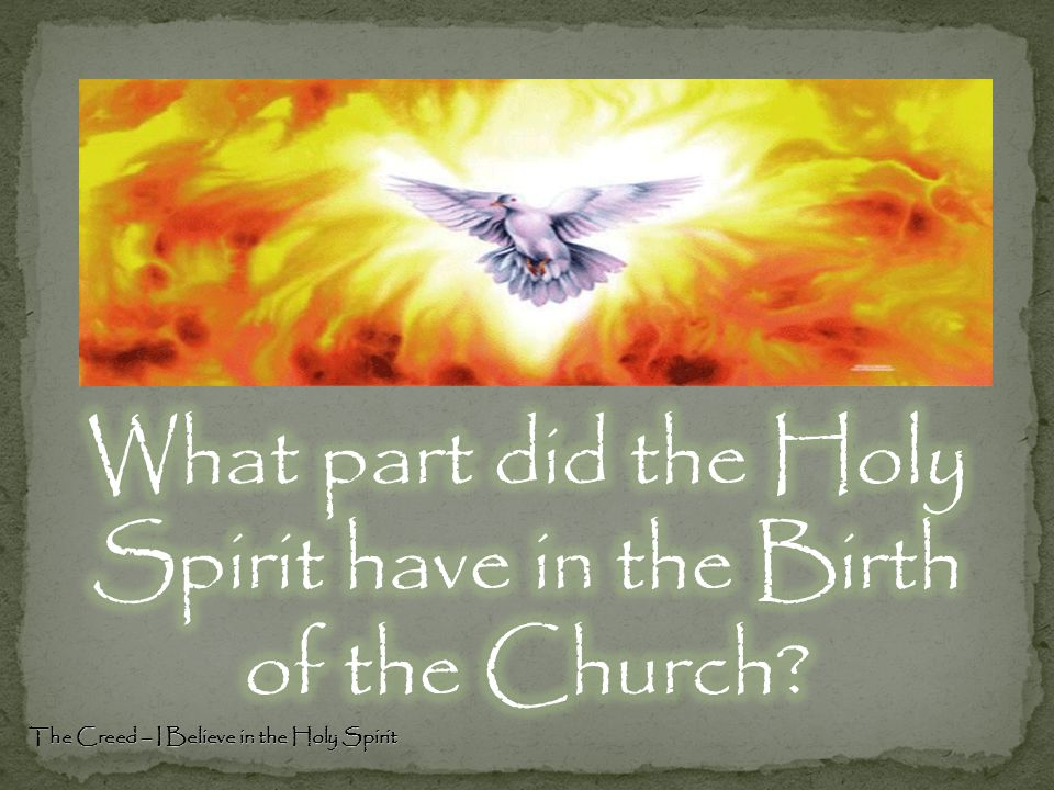 The Creed – I Believe in the Holy Spirit