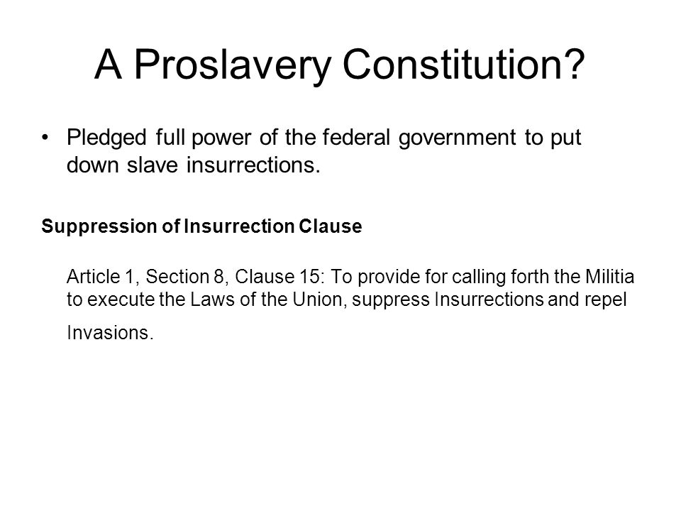 A Proslavery Constitution.