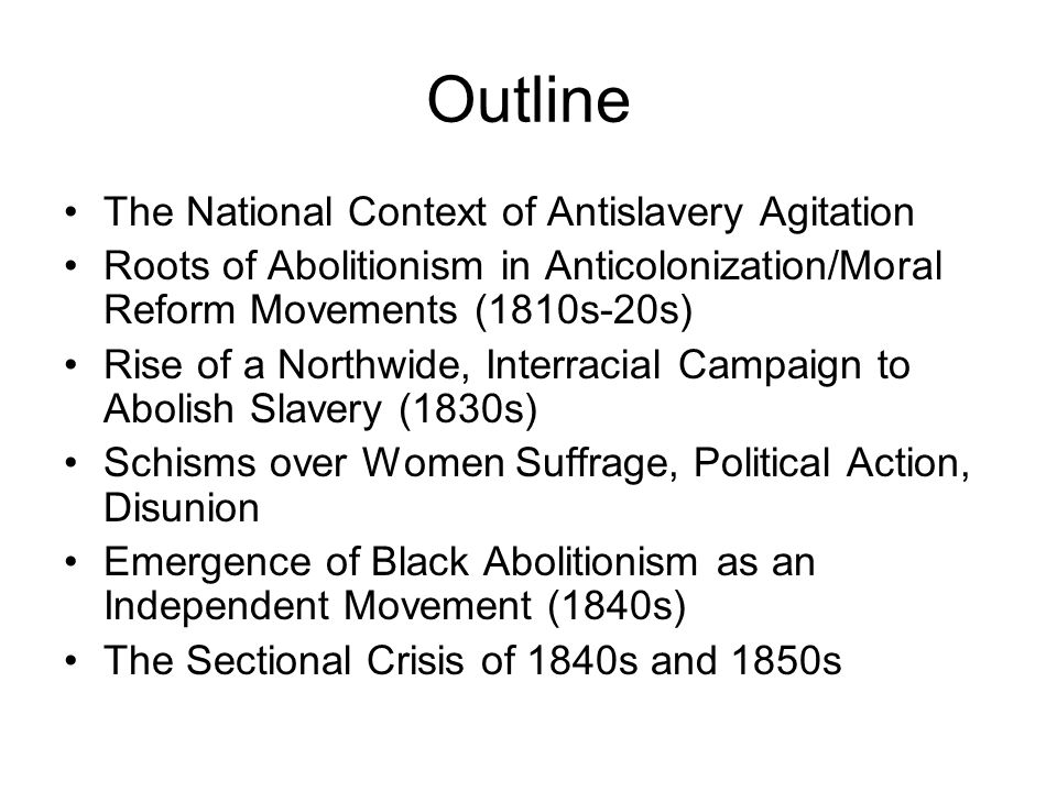 The Sectional Crisis of the 1840s and 1850s