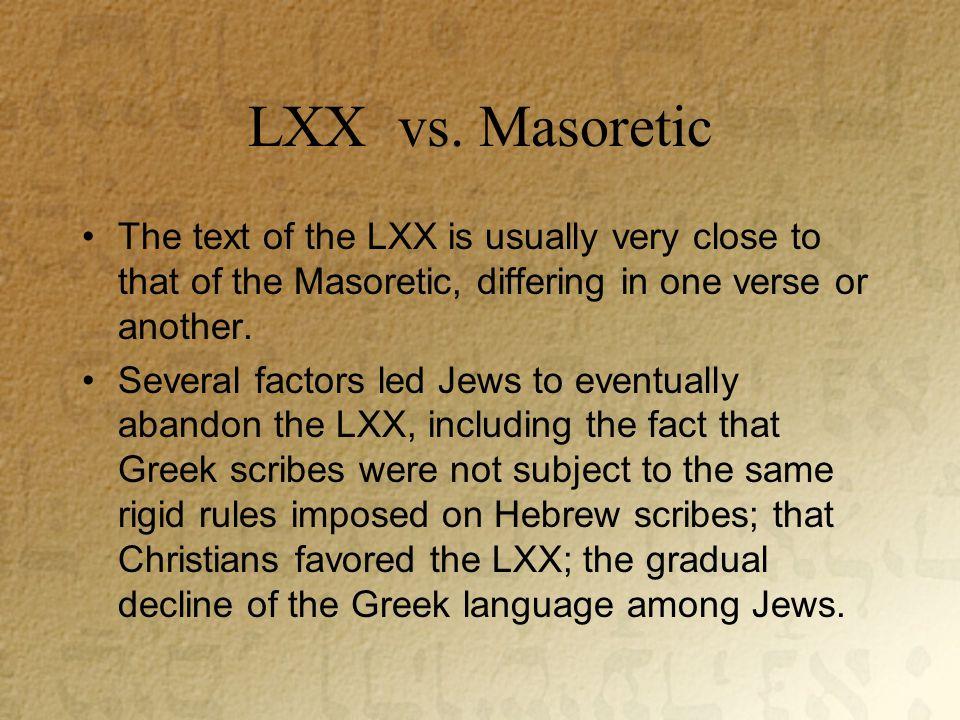 LXX vs.