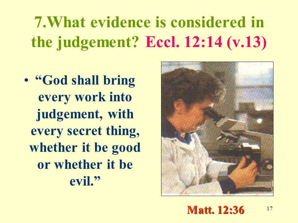 17 7.What evidence is considered in the judgement.