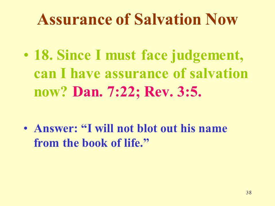 38 Assurance of Salvation Now 18.