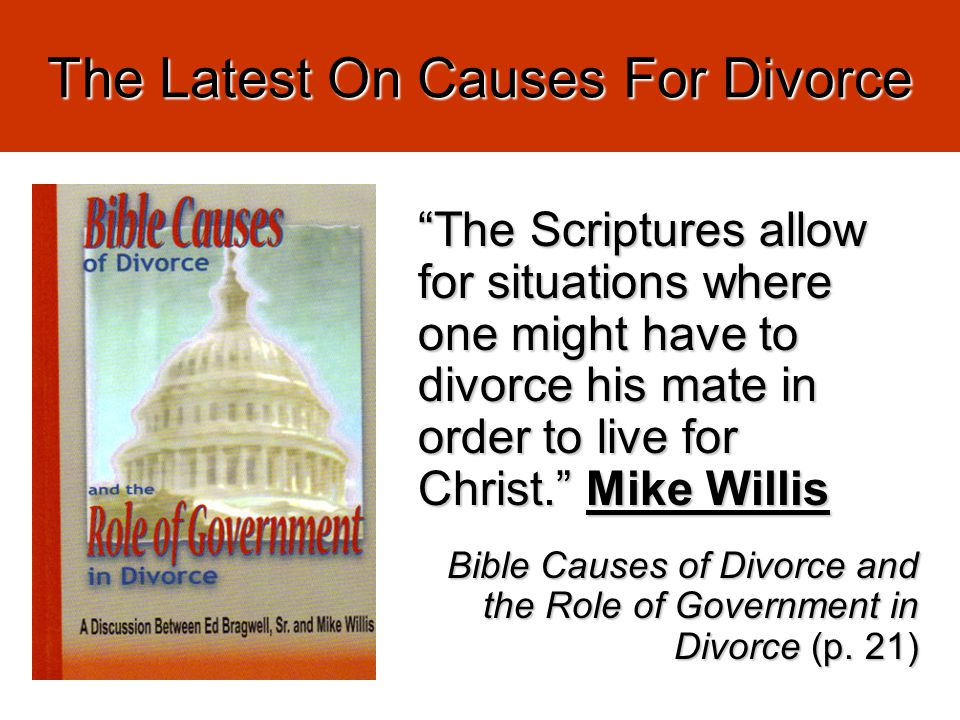 The Latest On Causes For Divorce Cf.Mt.