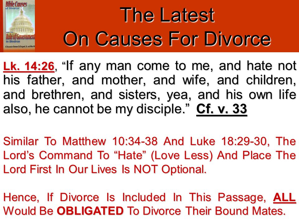Mike Teaches Since MAN Cannot Free Himself From The Yoke (Divine Obligation) Therefore, MAN Cannot Put Away Their Physical Mate.