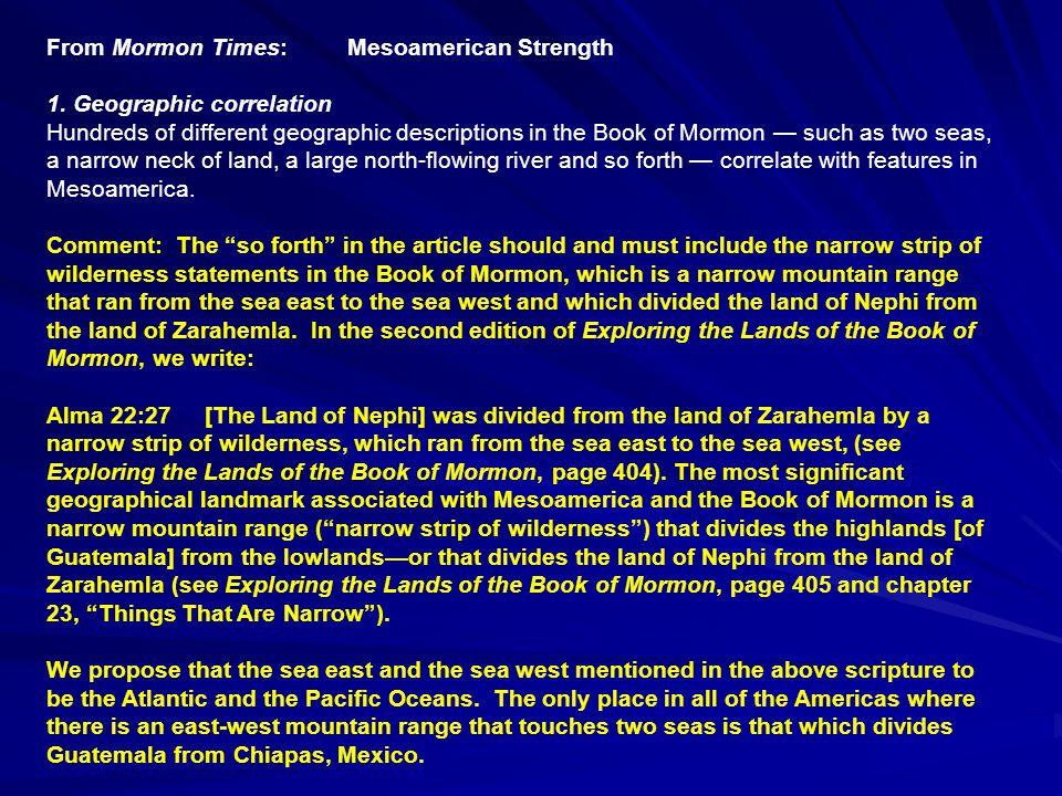 Land Northward Land Southward Nephi Narrow Neck Zarahemla Manti Ramah Moroni East Sea N East Wilderness Peten West Sea East Sea Moroni Zarahemla Nephi