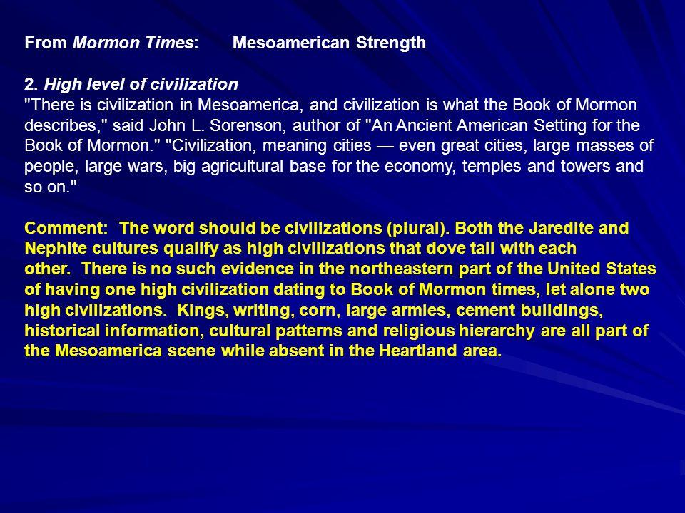 From Mormon Times: Mesoamerican Weakness C.