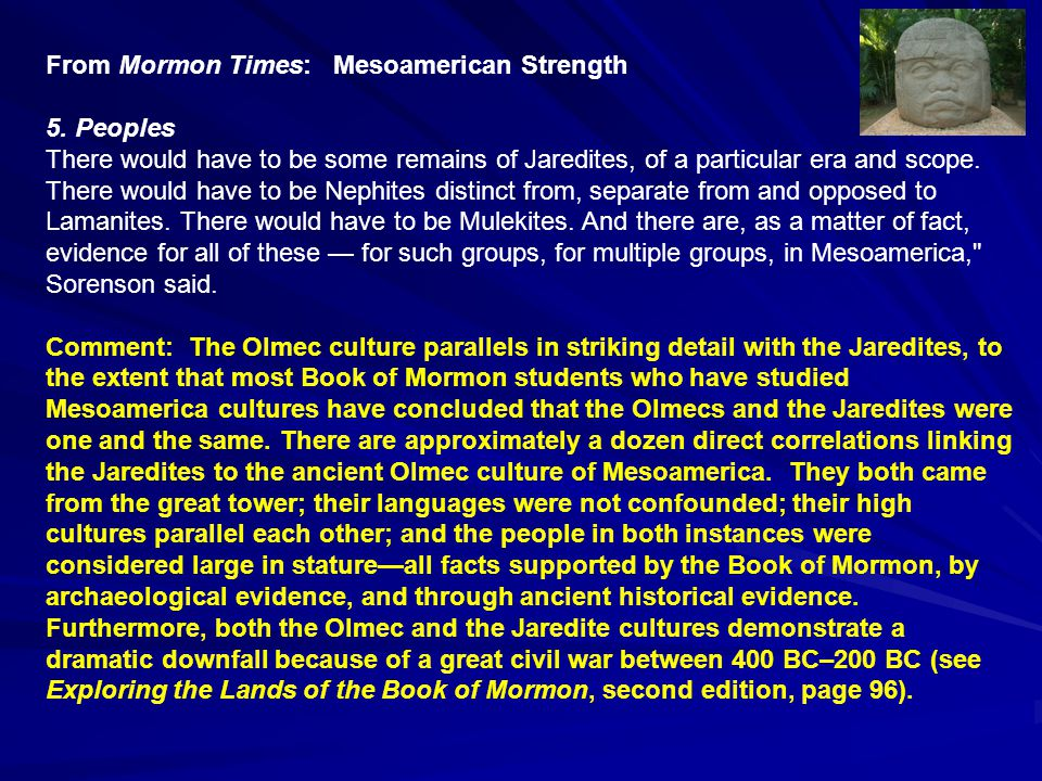 From Mormon Times: Mesoamerican Weakness A.