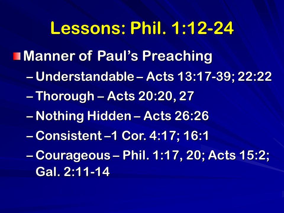 Lessons: Phil.