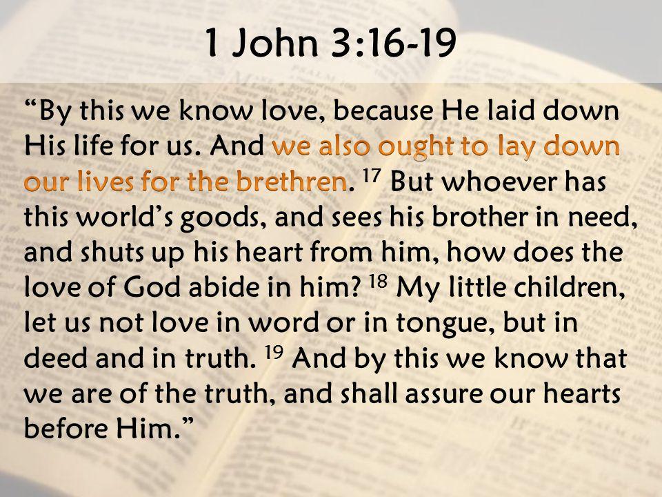 1 John 3:16-19