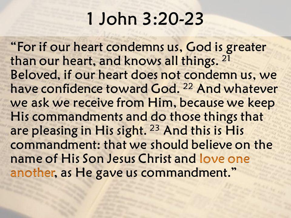1 John 3:20-23