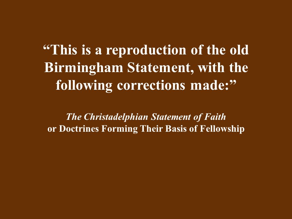 This change of emphasis away from strict, Scriptural doctrine and toward accommodation with psycho-social and ecumenical or charismatic approaches to religion is threatening the demise of that form of fellowship that had been our bulwark against discouragement and loss of faith, and which has served as a continual rejuvenator and sustainer of hope.