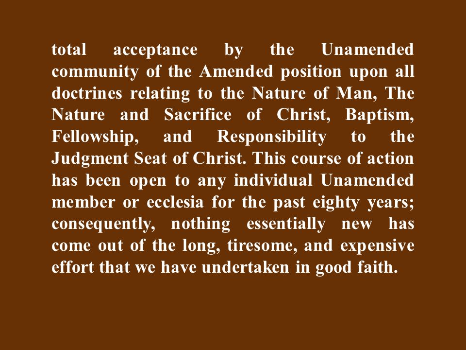 Resurrectional Responsibility Amended Knowledge of the Divine will…renders a man the subject of a resurrectional judgment.