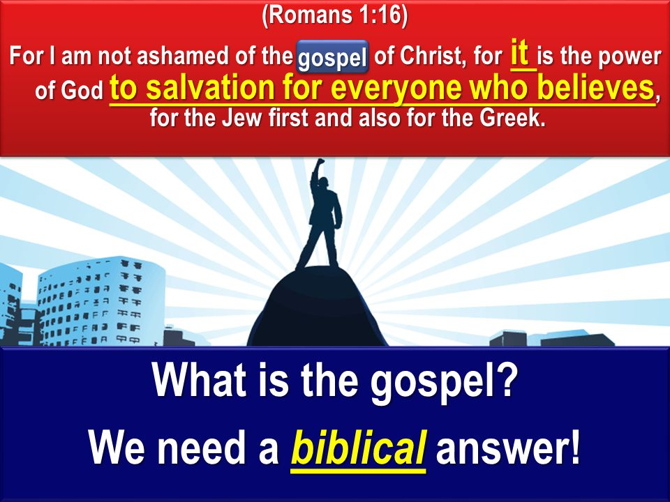 What is the appropriate response to hearing the gospel.