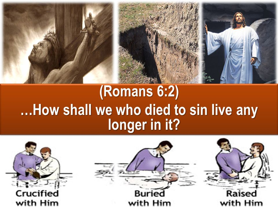 (Romans 6:3-4) Or do you not know that as many of us as were baptized into Christ Jesus were baptized into His death.