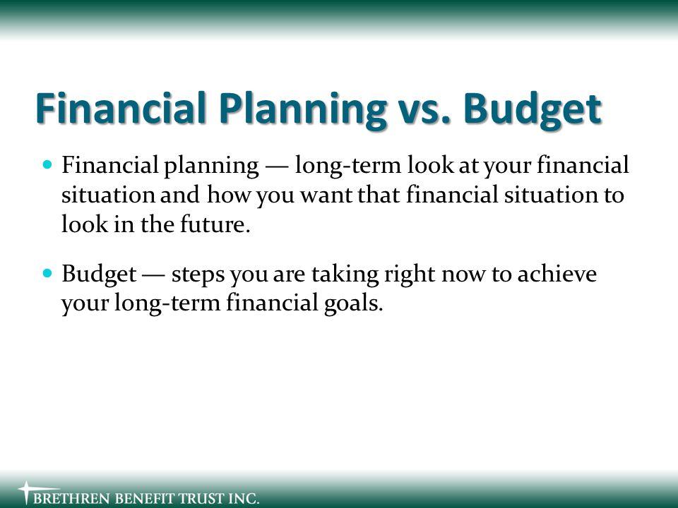 Financial Planning vs.