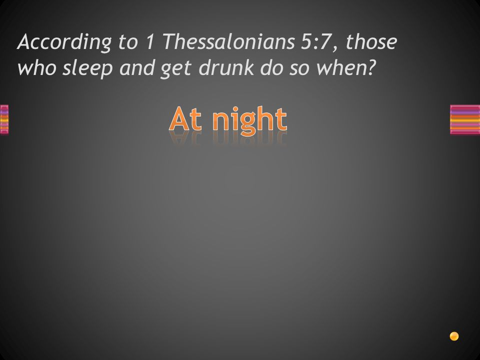 According to 1 Thessalonians 5:6, we should not sleep but do what