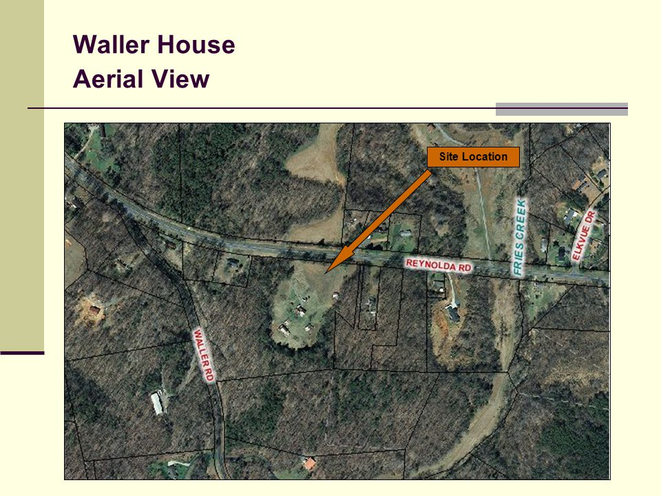 Waller House Aerial View Site Location