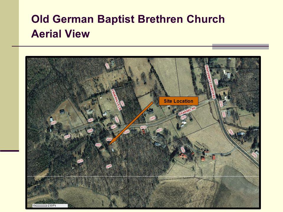 Old German Baptist Brethren Church Aerial View Site Location