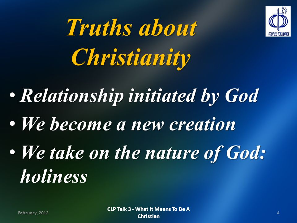 Implications of being a Christian 1.God is our Father: Trust Him.