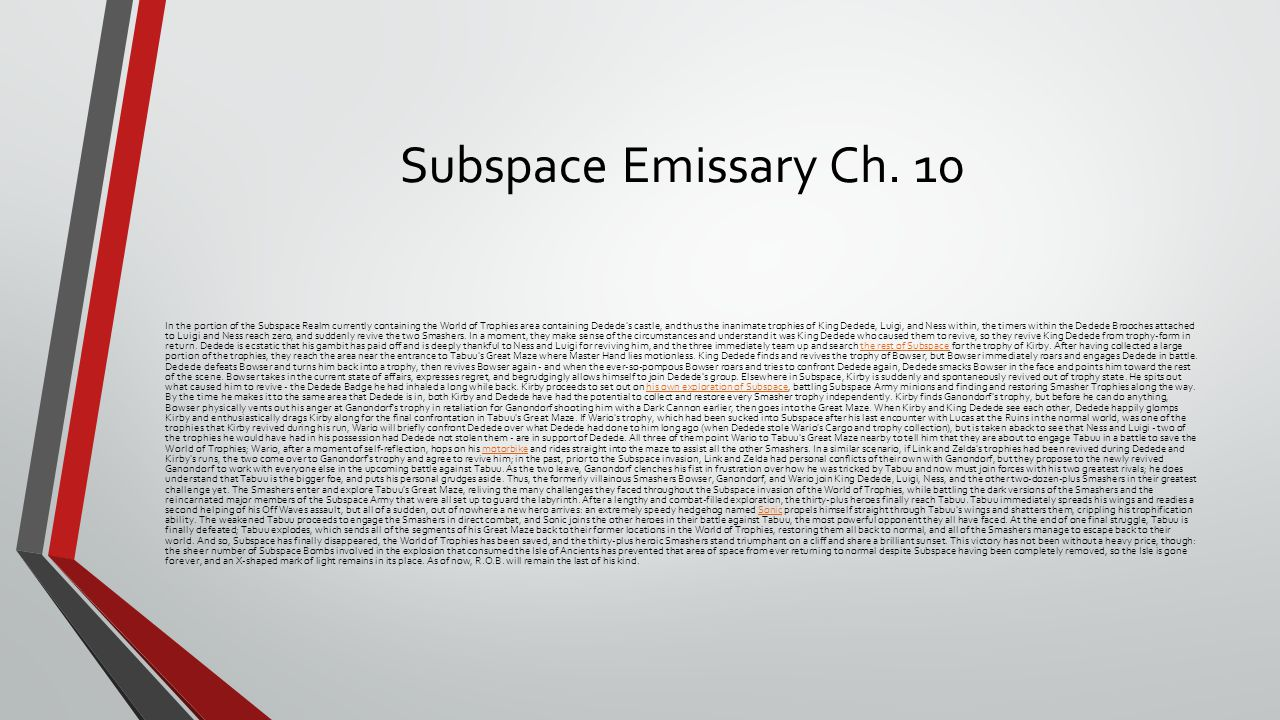 Subspace Emissary Ch.