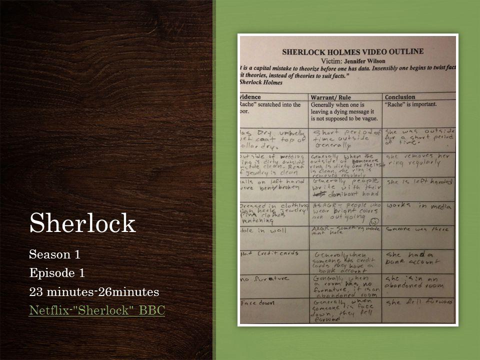 Sherlock Season 1 Episode 1 23 minutes-26minutes Netflix-