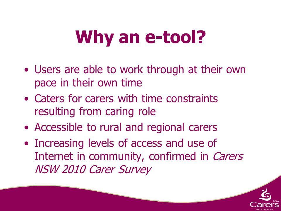 Why an e-tool.