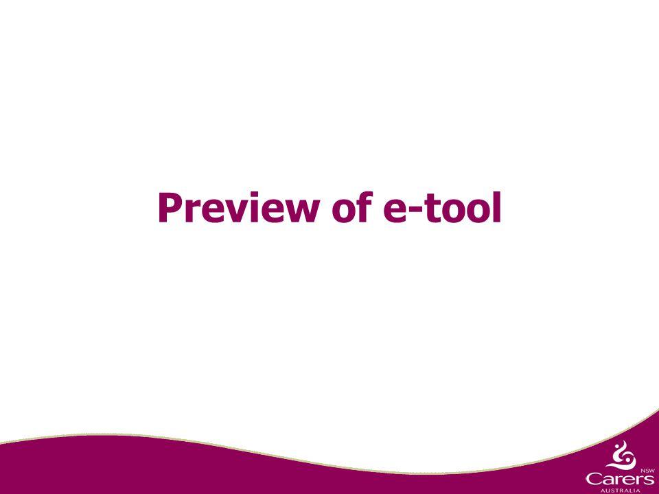 Preview of e-tool