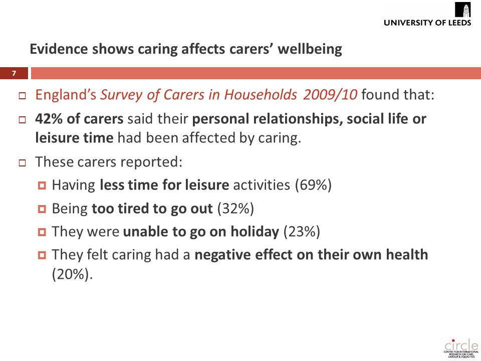 8 Legal or policy changes relevant to carers - UK Development relevant to carers' Income / finances Work / employ't Services/ support 1967: Dependent Relative's Tax Allowance 1975: Invalid Care Allowance (ICA)(single women caring for parents only) 1986: ICA made available to married women 1995: Carers (Recognition & Services) Act introduced LA carer's assessment concept 1999: National Carers' Strategy 1999: Employment Relations Act gave employees the right to 'reasonable time off' to deal with family emergencies 2000: Carers and Disabled Children Act (strengthened right to Carer's Assessment; carers eligible to receive services/direct payments) [England & Wales only] 2003: ICA re-named Carers' Allowance, carers aged 65+ able to claim, subject to 'overlapping benefits rule 2002: Employment Act: parents of disabled children, right to request flexible working 2004: Carers (Equal Opportunities) Act: LAs must inform carers of rights/consider their wish to work in assessments [England & Wales only] 2006: Work and Families Act extended R to R flexible working to carers of adults 2007: Pensions Act: introduced pension credit for carers 2008: National Carers' Strategy [separate national strategies for E,S, W & NI] 2010: National Carers' Strategy ('refreshed' by Coalition Govt) [England only] 2010: Equality Act: prevents carers from discrimination re care of a disabled person 2011: Short Breaks Duty regulations (Children & Young Persons Act 2008) 2012: Draft Care and Support Bill: if enacted, will place a duty on LAs to meet a carer's assessed needs for support (subject to a financial means test).