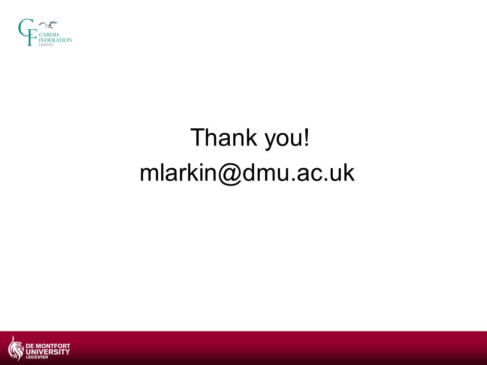 Thank you! mlarkin@dmu.ac.uk