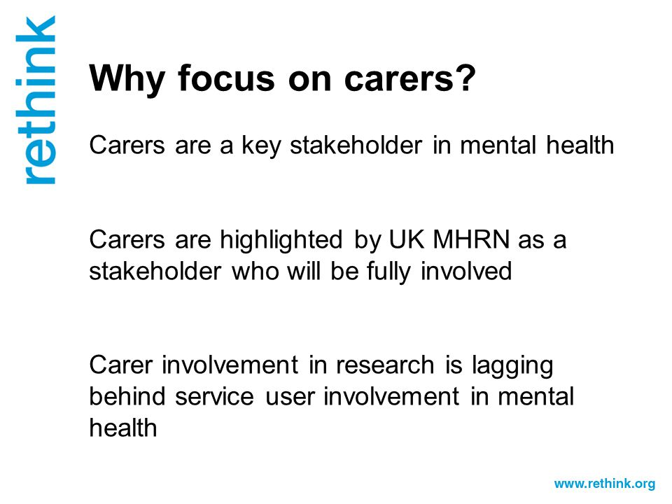 Why focus on carers.