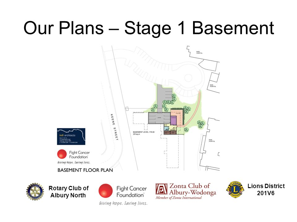Our Plans – Stage 1 Basement Rotary Club of Albury North Lions District 201V6