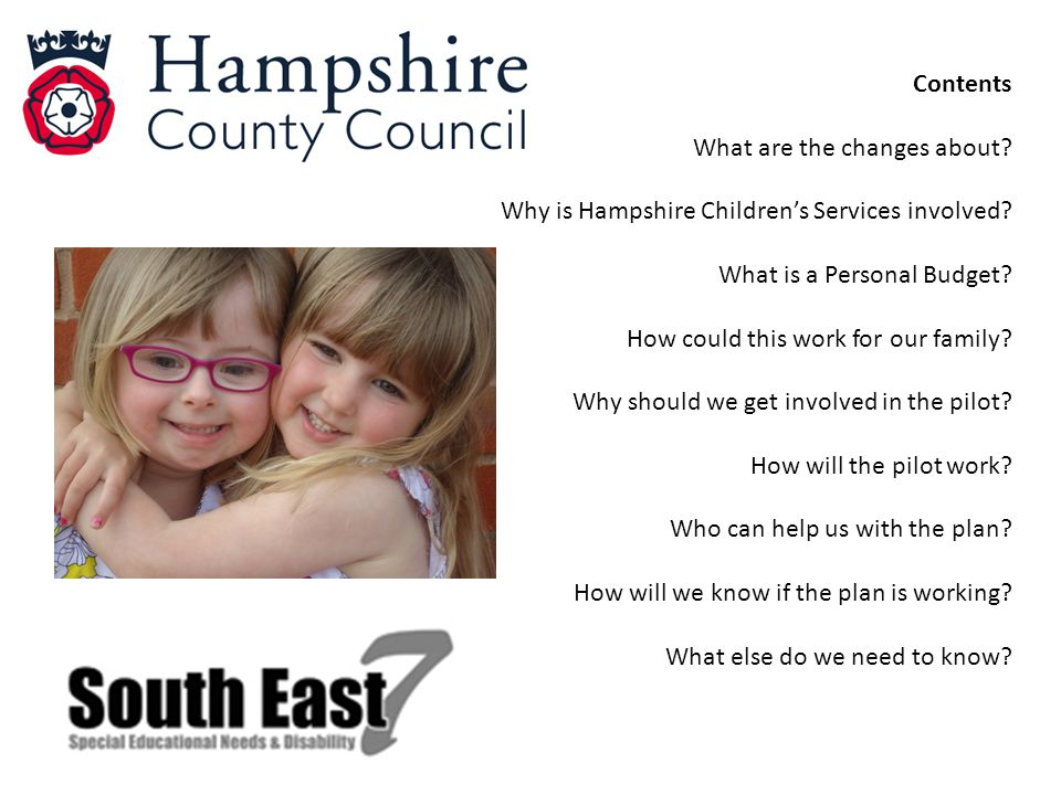 Contents What are the changes about.Why is Hampshire Children's Services involved.