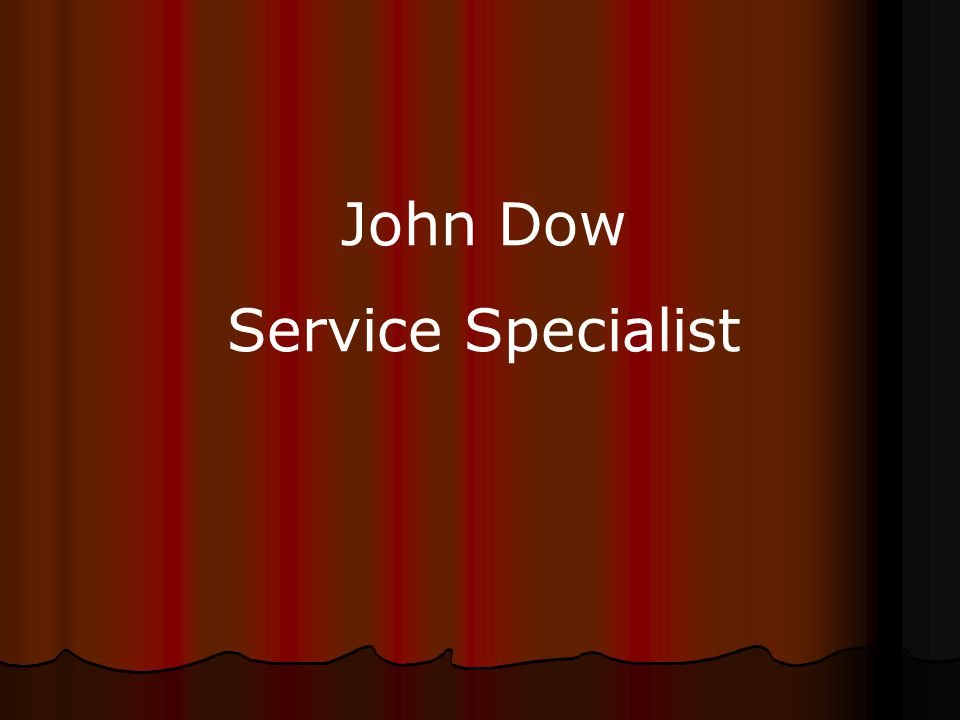 John Dow Service Specialist
