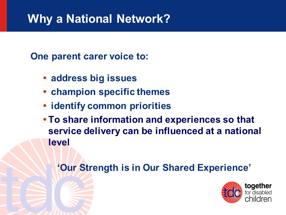 Why a National Network.