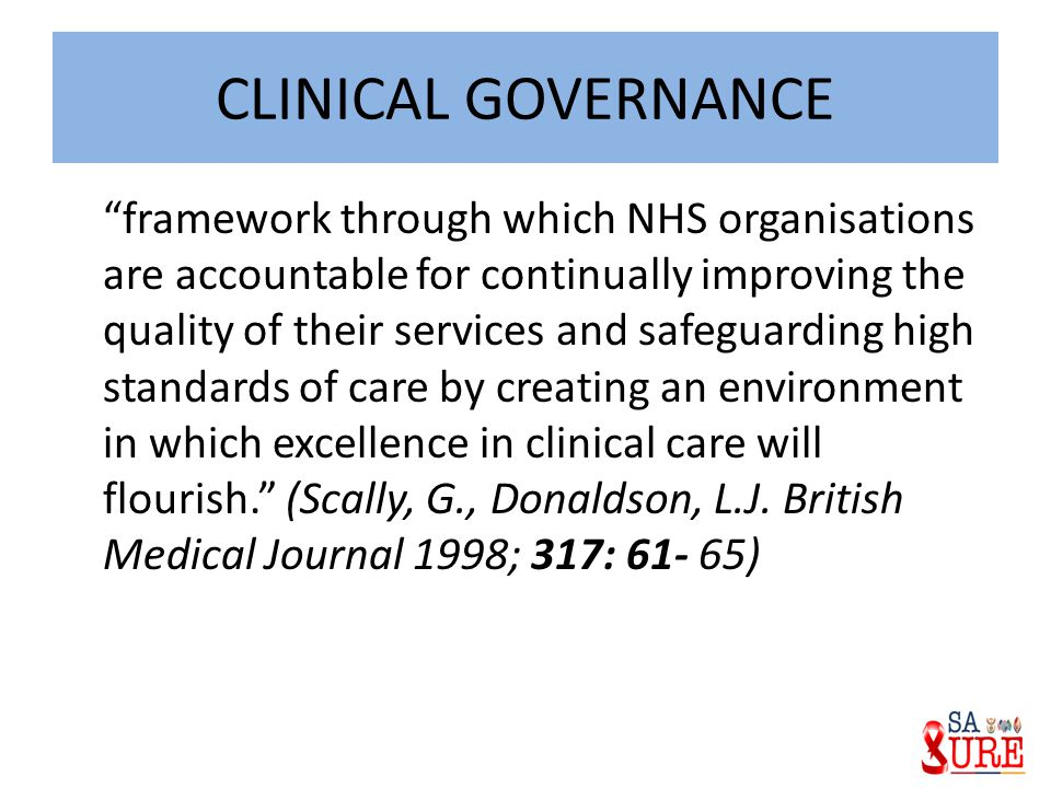 Clinical Governance Committees Clinical Audit Steering Group Clinical Risk Management Group Infection Control Committee Medicines Management Committee Guideline Implementation Committee Research and Development Committee Therapeutics Group Training and Development Committee