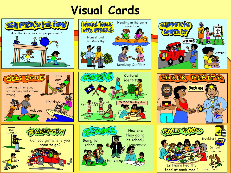 Visual Cards Bus Stop Can you get where you need to go.