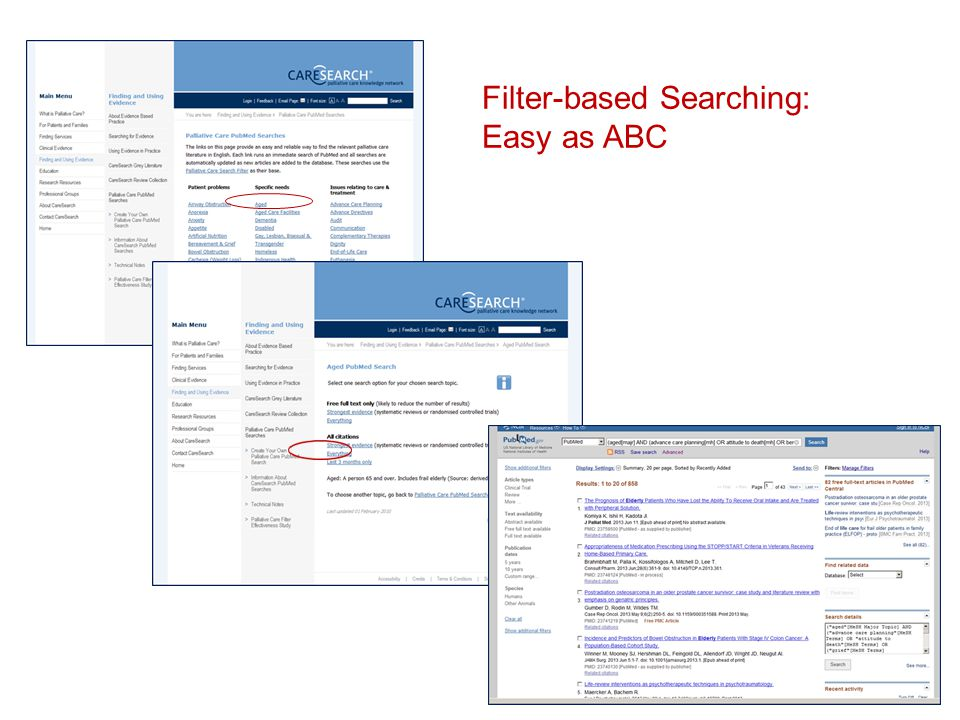 Filter-based Searching: Easy as ABC