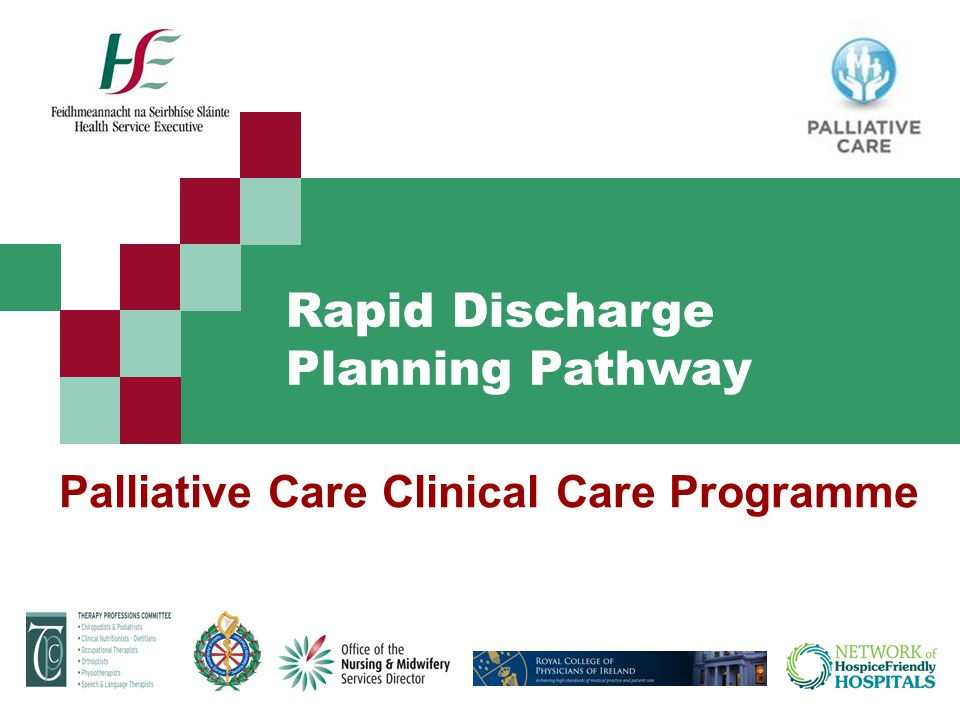 Palliative Care Clinical Care Programme Rapid Discharge Planning Pathway