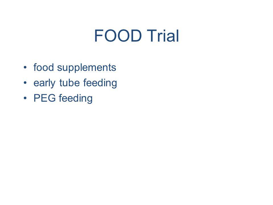 FOOD Trial food supplements early tube feeding PEG feeding