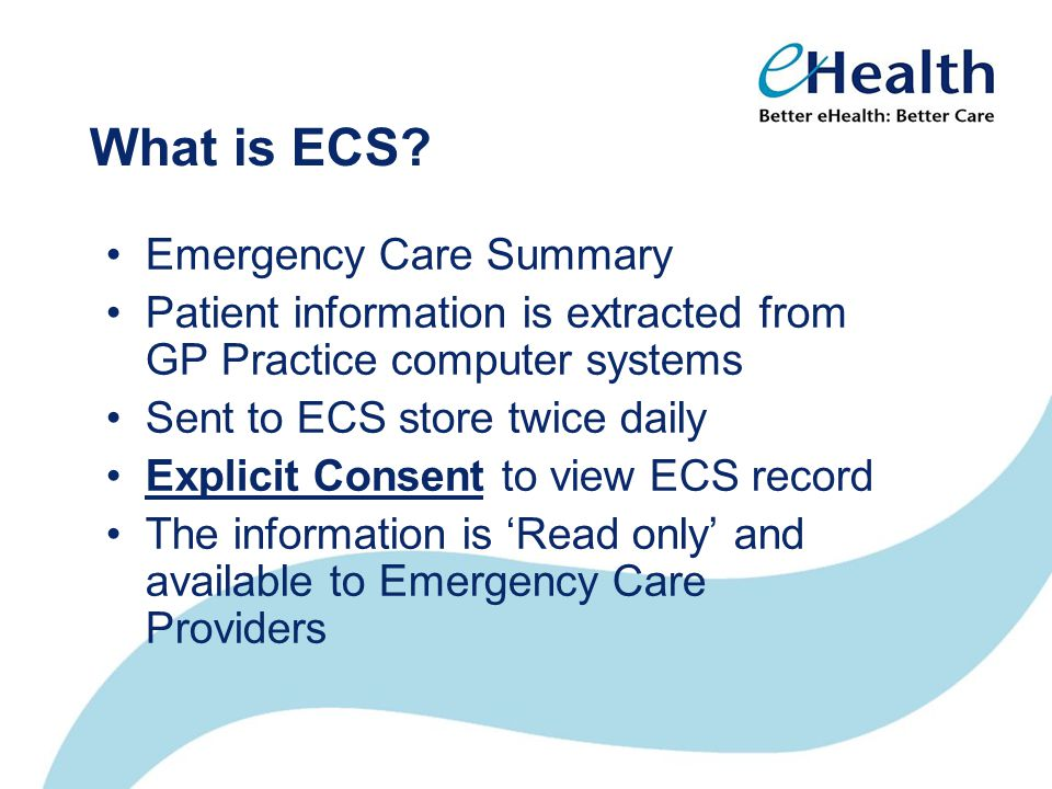What is ECS.