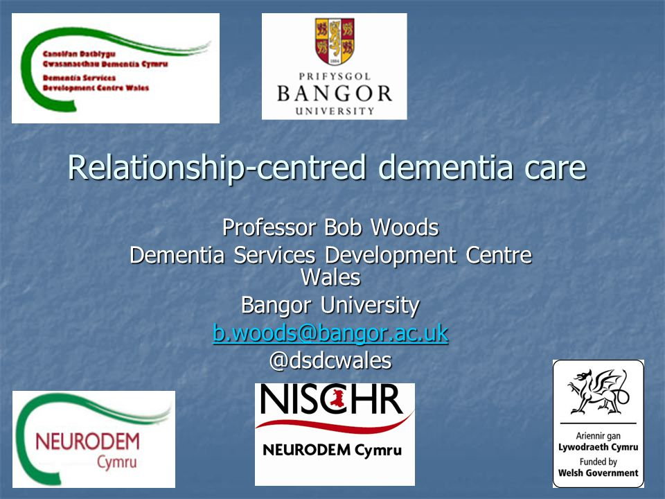 Welcome back.2011 – What can we learn from people with dementia.