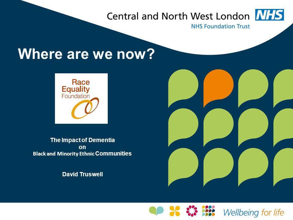 Where are we now? The Impact of Dementia on Black and Minority Ethnic Communities David Truswell
