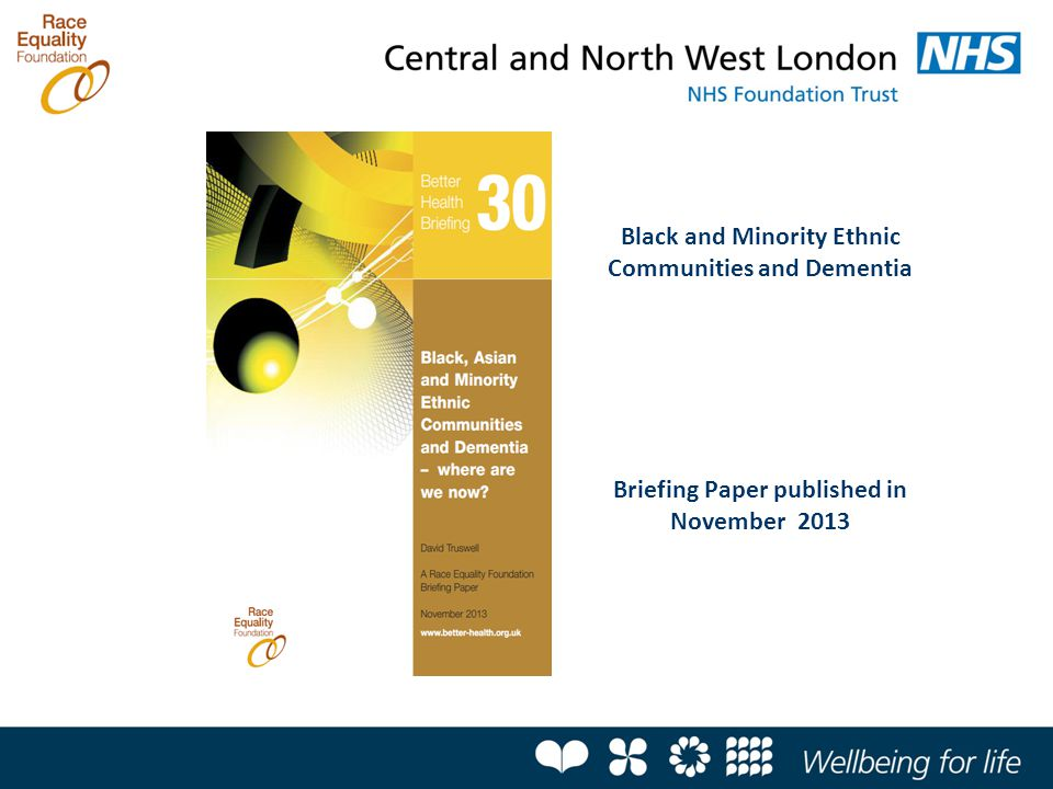 Black and Minority Ethnic Communities and Dementia Briefing Paper published in November 2013