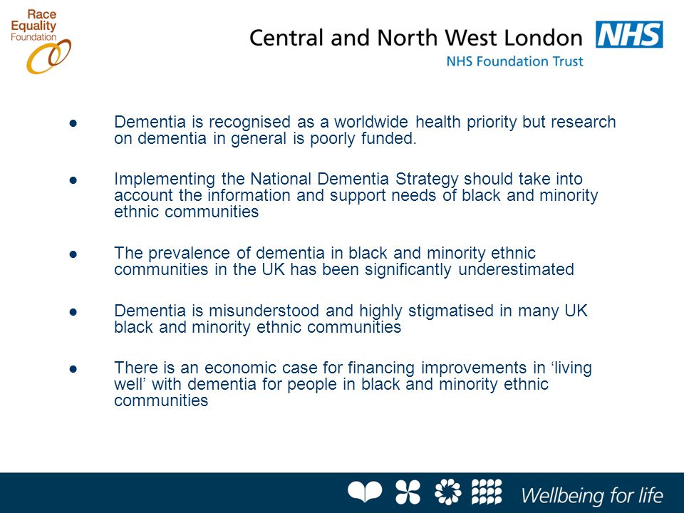 Dementia is recognised as a worldwide health priority but research on dementia in general is poorly funded.
