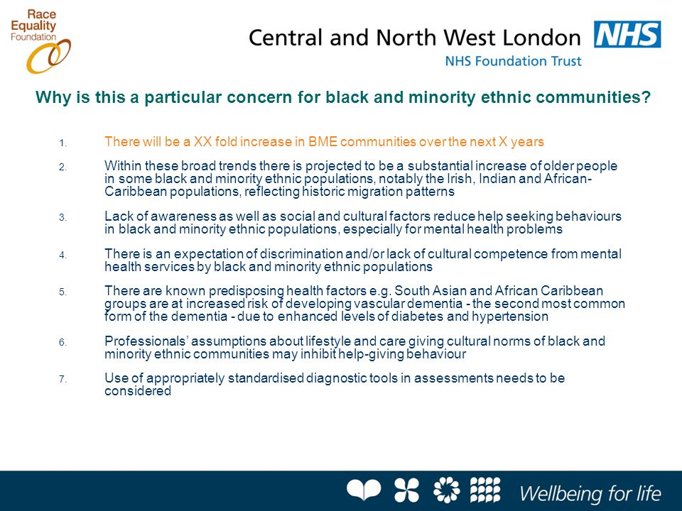 Why is this a particular concern for black and minority ethnic communities.