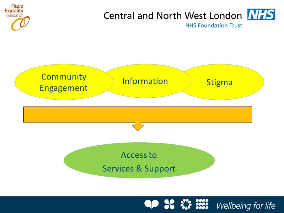 Stigma Factors affecting service access Information Access to Services & Support Community Engagement