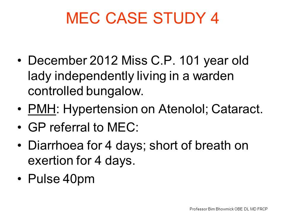 MEC CASE STUDY 4 December 2012 Miss C.P.