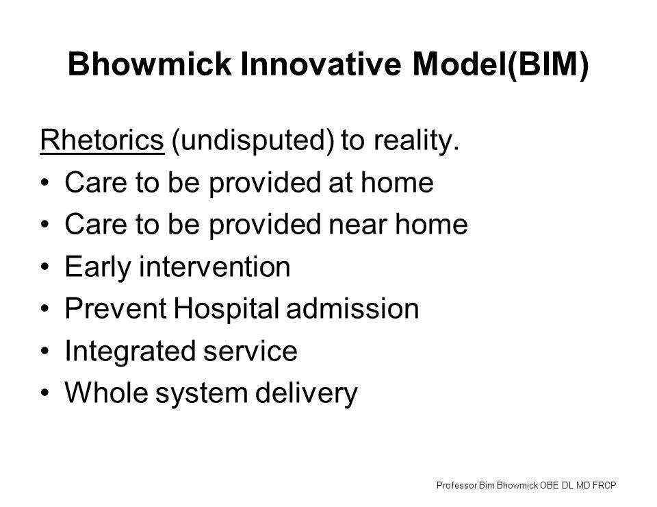 Bhowmick Innovative Model(BIM) Rhetorics (undisputed) to reality.