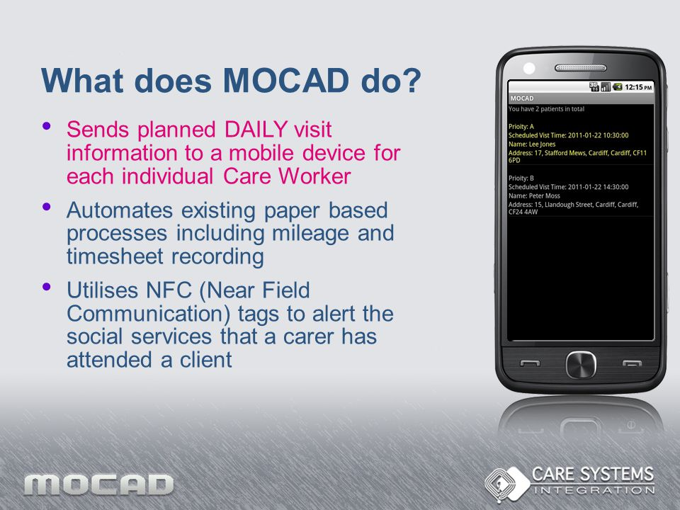What does MOCAD do.