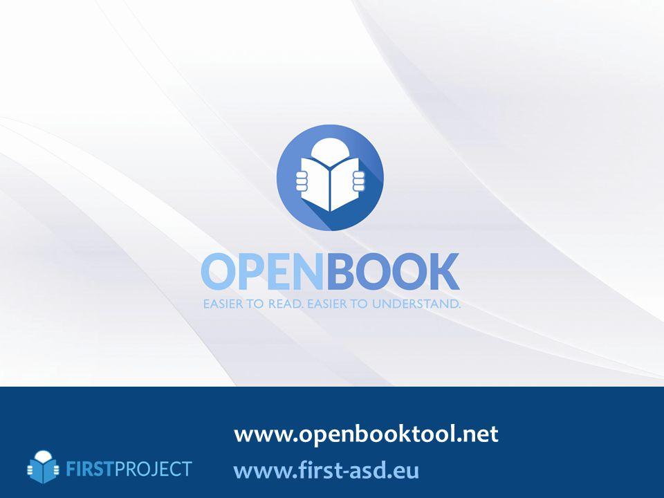 www.first-asd.eu www.openbooktool.net